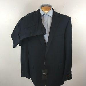 Tiglio mens suit charcoal blue checks 52r ea0267